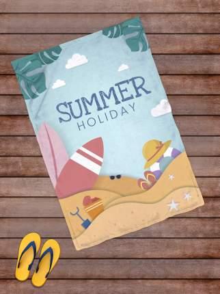 Плед покрывало пляжное для пикника флис 145х100 Summer Holiday