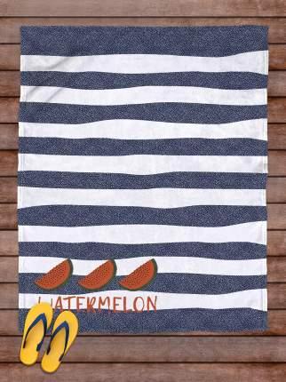 Плед покрывало пляжное для пикника флис 145х180 Арбуз