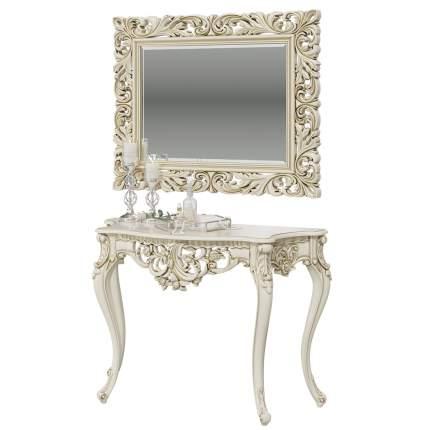Туалетный столик Мэри-Мебель КН-01+ЗК-04 122х48х82 см, слоновая кость