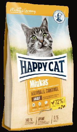 Сухой корм Happy Cat Minkas Hairball Control для вывода шерсти из желудка, птица, 10кг