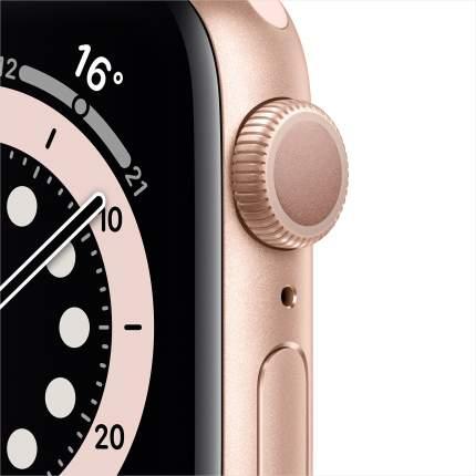Смарт-часы Apple Watch Series 6 40mm Gold with Pink Sand Sport Band (MG123RU/A)