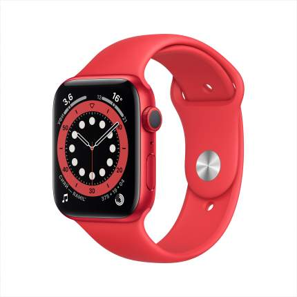 Смарт-часы Apple Watch Series 6 44mm (PRODUCT) RED with Sport Band (M00M3RU/A)