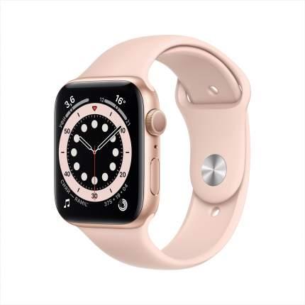Смарт-часы Apple Watch Series 6 44mm Gold with Pink Sand Sport Band (M00E3RU/A)