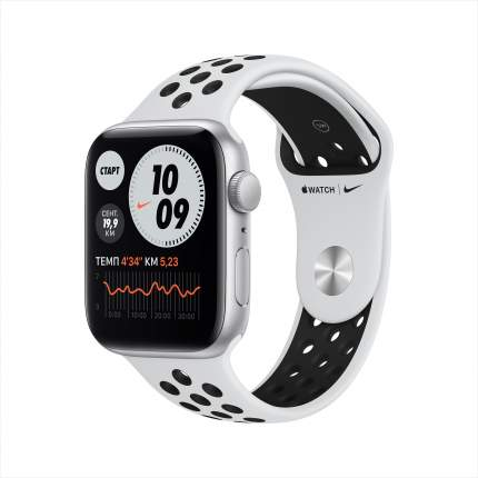 Смарт-часы Apple Watch Nike SE 44mm Silver, Pure Platin/Black Nike Sport Band (MYYH2RU/A)