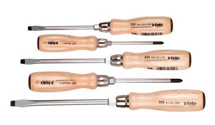 Набор отверток Felo ударных SL/PH с деревянной рукояткой, 5 шт 33595198