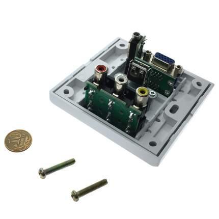 Настенная панель-переходник (встраиваемая розетка) Espada EWPRCAUSBVGA3.5