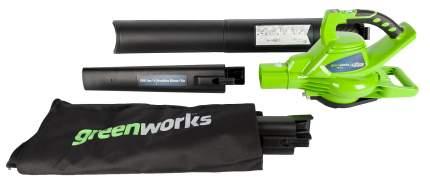 Аккумуляторная воздуходувка Greenworks GD40BVK4 24227UB 40 В АКБ и ЗУ в комплекте