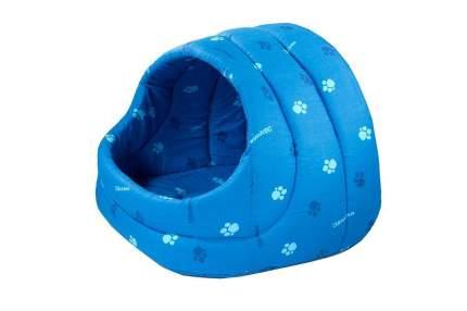 Домик для кошек и собак Дарэлл Лукошко, синий, 42x32x36см