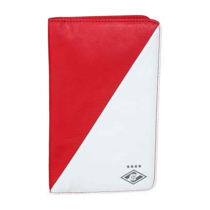 Визитница настольная, красно-белый, 19х12х2 см
