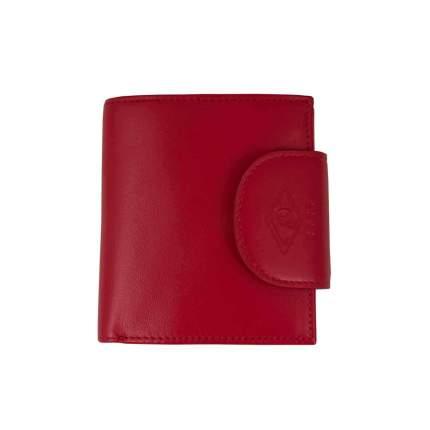Портомоне красное на кнопке Neri Karra, красный