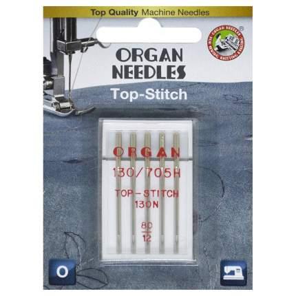 Иглы Organ TOP STITCH 5/80