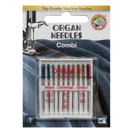 Иглы Organ универсальные 10/COMBI Blister