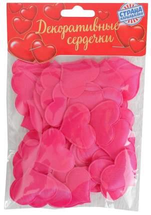 Набор декоративных сердец фуксия Sima-land 50 шт.