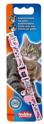 Ошейник для кошек Nobby Love полиэстер, розовый, 20-30 см