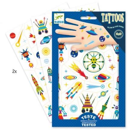 Татуировки Djeco Космос светящиеся в темноте