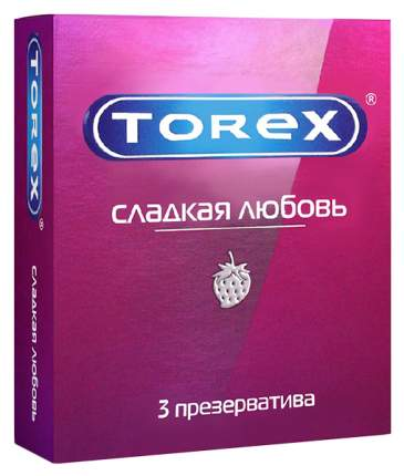 Презервативы Torex Сладкая любовь со вкусом клубники 3 шт.