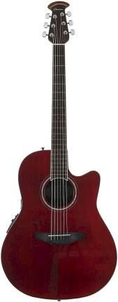 Электроакустическая гитара Ovation CS24-RR Celebrity Standard Mid Cutaway Ruby Red