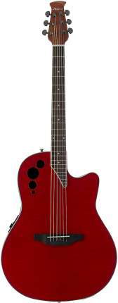 Электроакустическая гитара Applause AE44IIP-CHF Mid Cutaway Cherry Flame