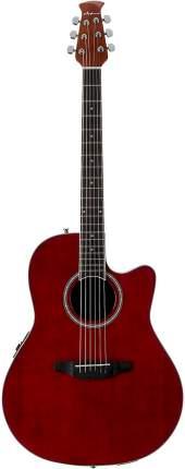 Электроакустическая гитара Applause AB24II-RR Mid Cutaway Ruby Red
