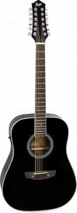 Электроакустическая гитара Flight D-200/12 BK EQ двенадцатиструнная