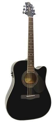 Электроакустическая гитара GregBennett GD100SCE/BK