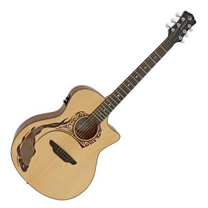 Luna OCL KOI2 Oracle Koi электроакустическая гитара