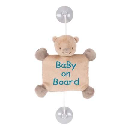 Знак автомобильный Nattou Baby on board Mia & Basile Мишка