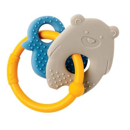 Прорезыватель силиконовый Nattou Lapidou Мишка и Утка