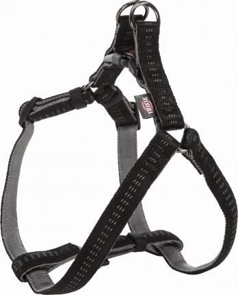 Шлейка для собак TRIXIE Softline Elegance One Touch M 50–65см, 20мм, нейлон, черный, серый
