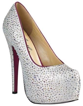 Туфли Hustler Shoes Jewerly с серебристыми кристаллами р.35