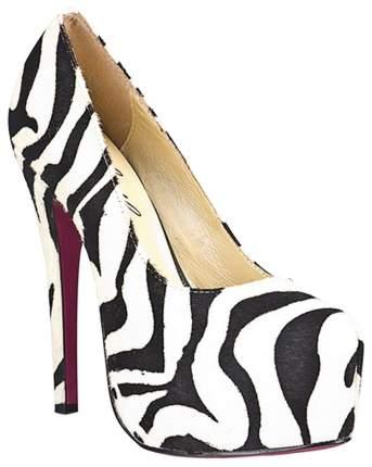 Туфли Hustler Shoes Black&White из искуственной шерсти зебры р.40