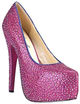 Туфли Hustler Shoes Crystal Pink в кристаллах на шпильке р.35