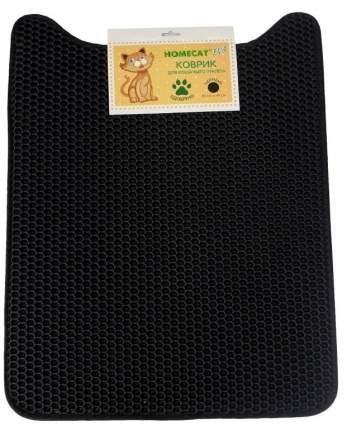 Коврик для кошачьего туалета HOMECAT EVA черный, 65x49 см