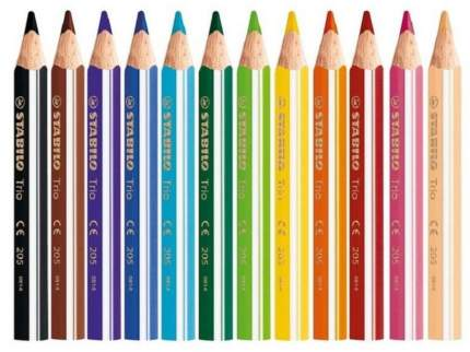 """Карандаши цветные """"Stabilo Trio Jumbo"""" 12 цветов"""