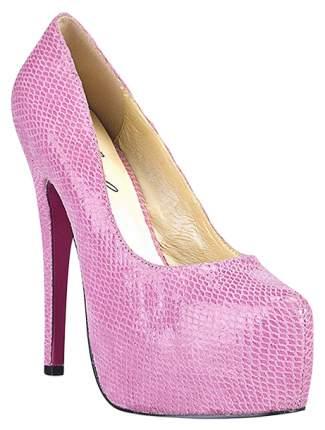 Туфли Hustler Shoes Glamour Snake под питона розовые р.36