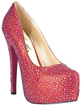 Туфли Hustler Shoes Provacative в кристаллах красные р.37