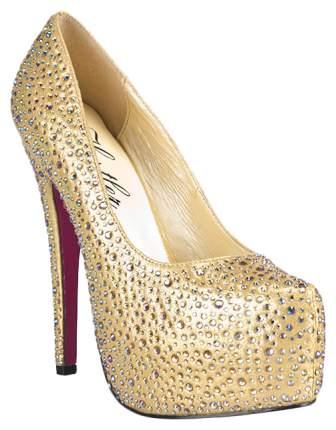 Туфли Hustler Shoes Golden Diamond с кристаллами золотистые р.40