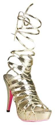 Босоножки Hustler Shoes Snake Style из искусственной змеиной кожи золотистые р.39