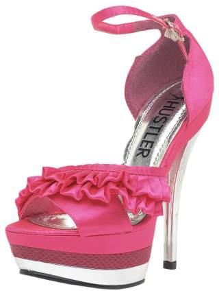 Босоножки Hustler Shoes Fuchsia с серебристым каблуком р.39