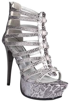 Босоножки Hustler Shoes Silver Python р.40