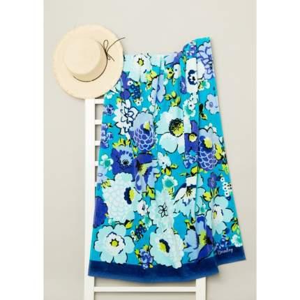 Полотенце пляжное велюровое Bradley 80х170 см, синий, хлопок 100%, 500 г/м2 Fiesta Crafts