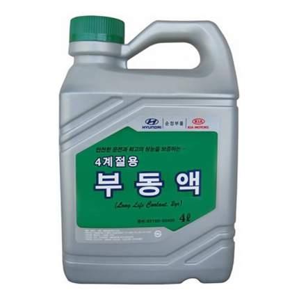 Антифриз Hyundai-KIA LONG LIFE COOLANT 2YR G11 зеленый концентрат 4л