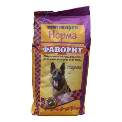 Сухой корм для собак Фаворит Норма, все породы, мясо, 13кг