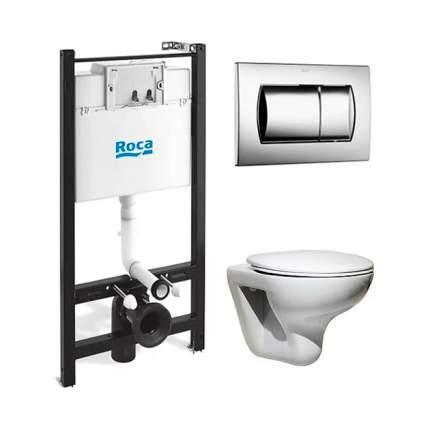 Комплект Roca Mateo 893100010 подвесной унитаз + инсталляция + кнопка