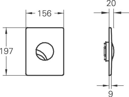 Кнопка для инсталляции для унитаза Grohe Chiara 38365CA0