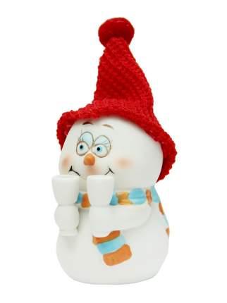 Новогодняя фигурка снеговика Снеговик с бокалами Феникс Present 38338