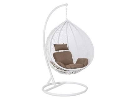 Подвесное кресло  Подвесное кресло Z-10 / Z-11 Белый иск. ротанг, Большая корзина