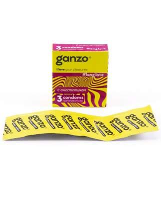 Презервативы Ganzo Long love 3 шт.