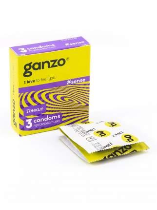 Презервативы Ganzo Sense 3 шт.