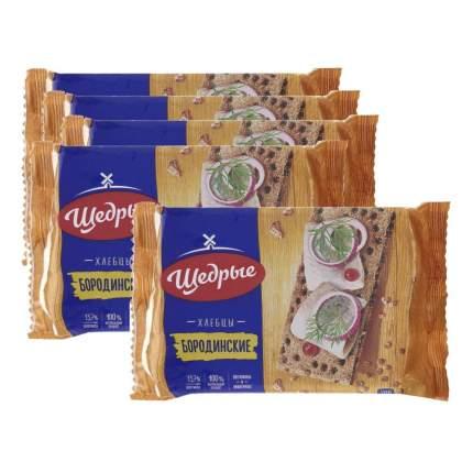 ЩЕДРЫЕ хлебцы Бородинские 200г 5 упаковок